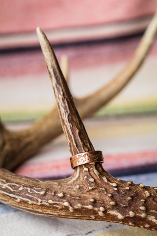 Vintage Copper Roadrunner Ring - Cowgirl Relics