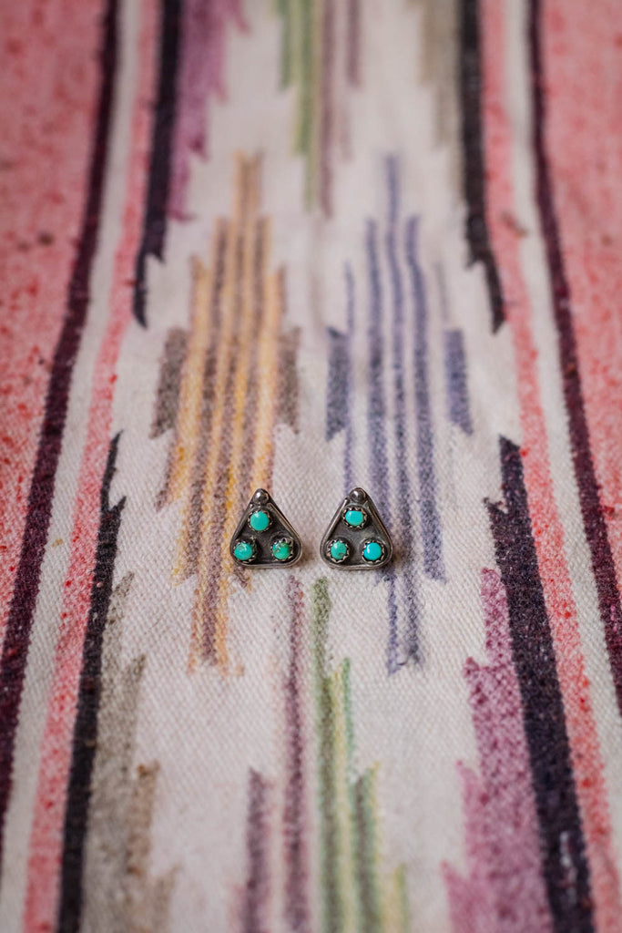 Vintage Southwest Turquoise Earrings - Cowgirl Relics