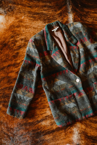 vintage earth tone southwest blazer medium