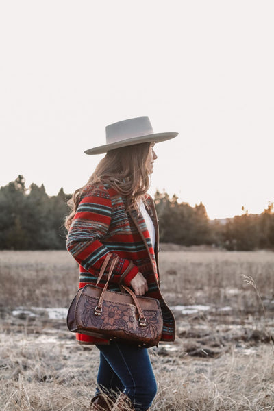 Vintage Red Striped Southwest Coat