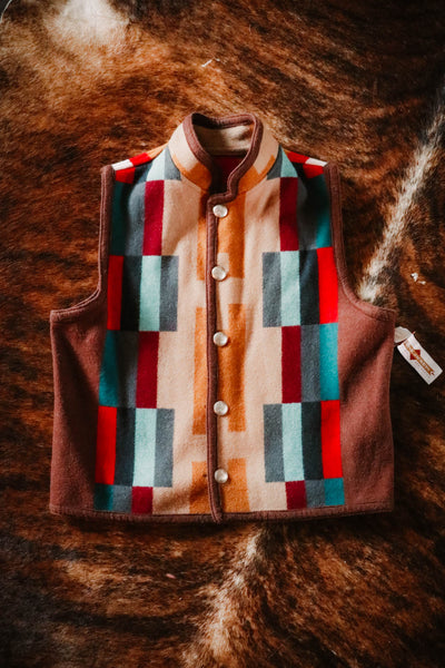 Vintage Native Jackets Reversible Southwest Wool Vest