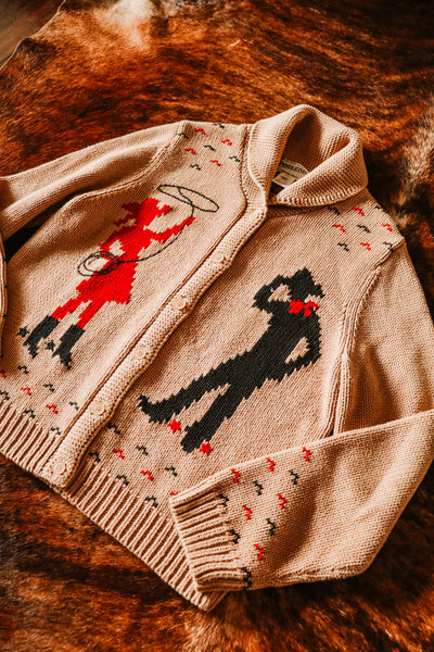 Vintage Pendleton Cowboy Cowgirl Western Cowichan Sweater