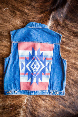 Vintage Pendleton Denim Southwest Vest