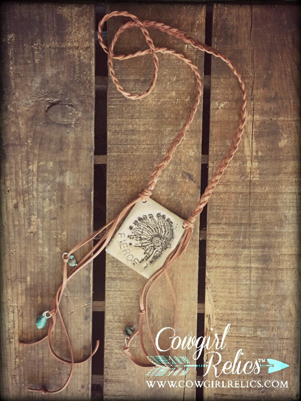 Red Cloud Headdress Western Necklace - Cowgirl Relics