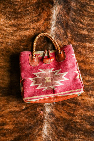 red kilim southwest tapestry purse