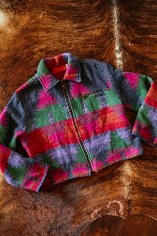 vintage colorful southwest jacket ld burke santa fe