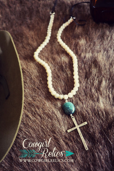 Stella Elegant Western Pearl and Turquoise Necklace - Cowgirl Relics