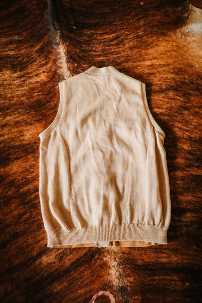 Vintage Wool and Suede Western Fringe Sweater Vest