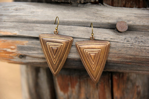 Wasatch Geometric Tribal Boho Western Earrings - Cowgirl Relics