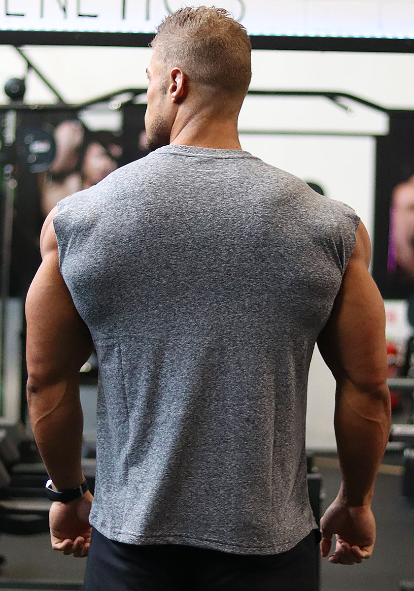 Classic Sleeveless Shirt: Charcoal Grey - Vintage Genetics