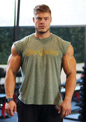 Classic Sleeveless Shirt: Diamond Green (Stay Golden) - Vintage Genetics