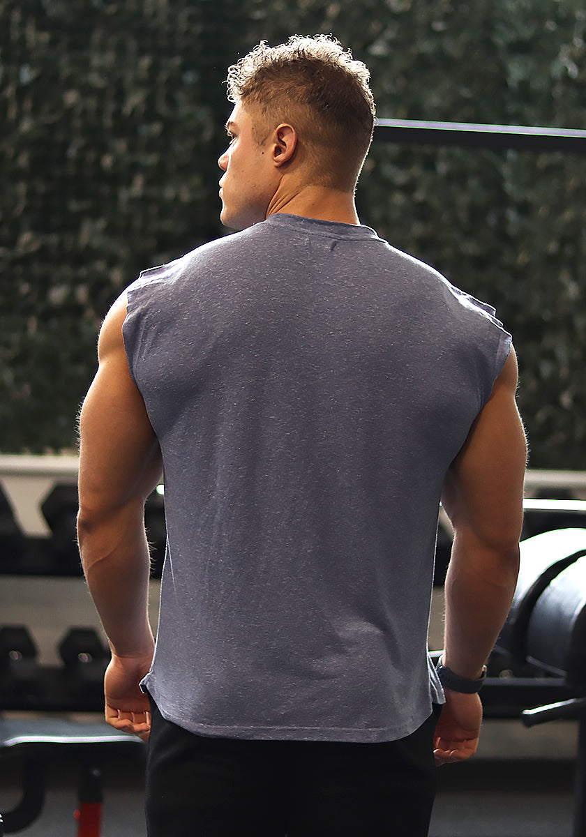 Classic Sleeveless Shirt: Chalk Blue (Stay Golden) - Vintage Genetics