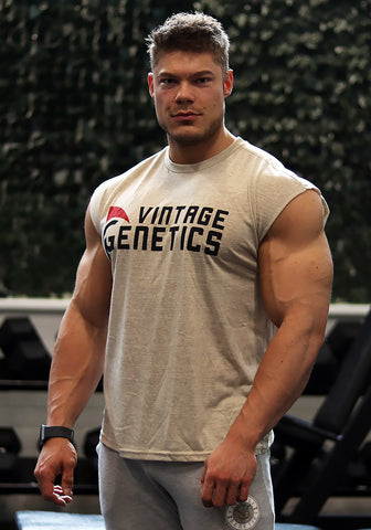 Classic Sleeveless Shirt: Off-White - Vintage Genetics - Vintage Genetics