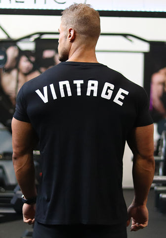 Vintage Fitted Shirt: Black - 'VINTAGE'