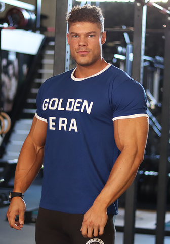 Golden Era Ringer Shirt - Royal Blue