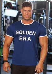 Golden Era Ringer Shirt - Royal Blue - Vintage Genetics
