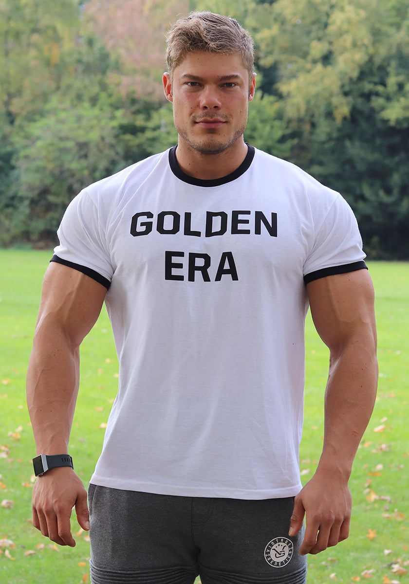 Golden Era Ringer Shirt - White - Vintage Genetics