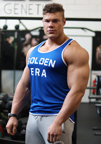 Golden Era Ringer Tank - Royal Blue - Vintage Genetics