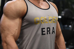 Golden Era Ringer Tank - Gray - Vintage Genetics