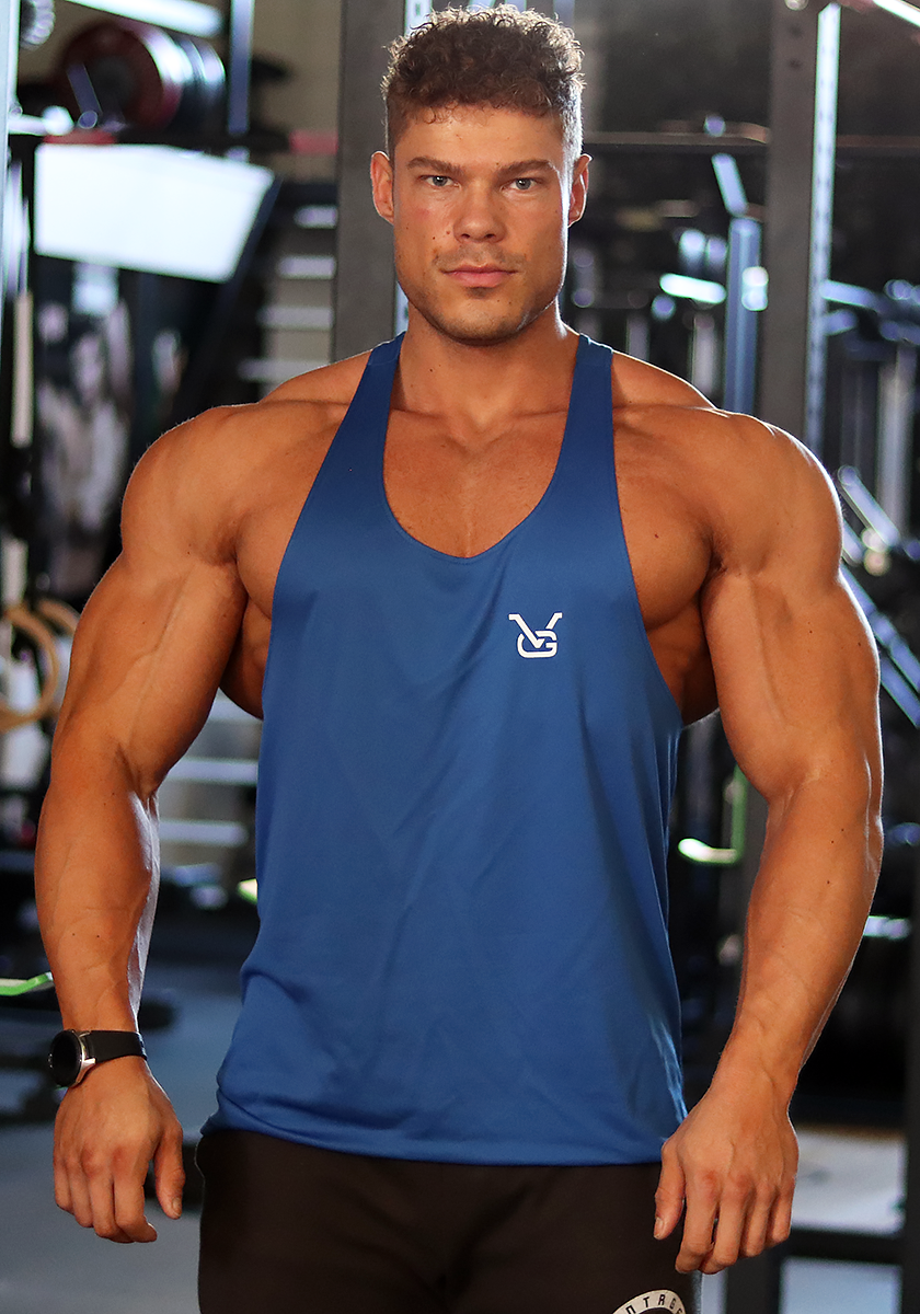 Gym Stringer: Royal Blue (VG Logo) - Vintage Genetics