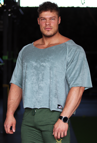Old-School Oversized Tee - Lagune Green