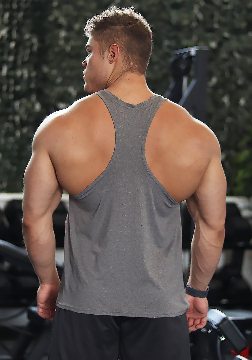 Performance Racerback: Steel Gray (VG Logo) - Vintage Genetics