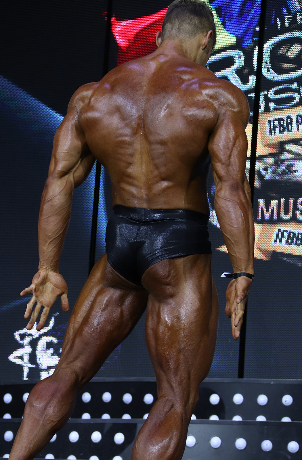 Classic Physique Trunks - Wet Look: Black - Vintage Genetics