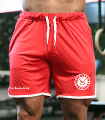 Classic Bodybuilding Bermuda Shorts: Red - Vintage Genetics