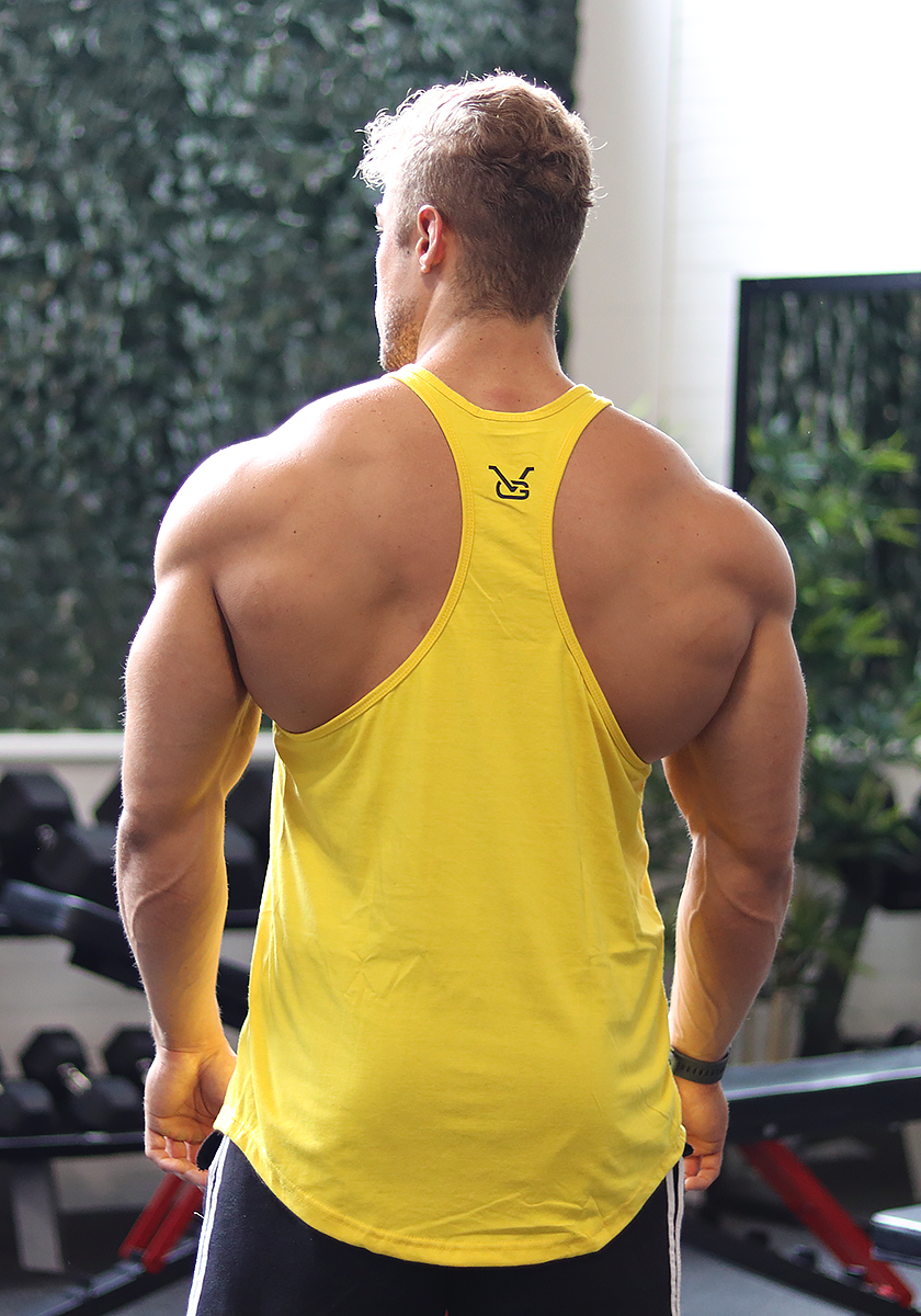 Stay Golden Stringer: Yellow (Black Logo) - Vintage Genetics