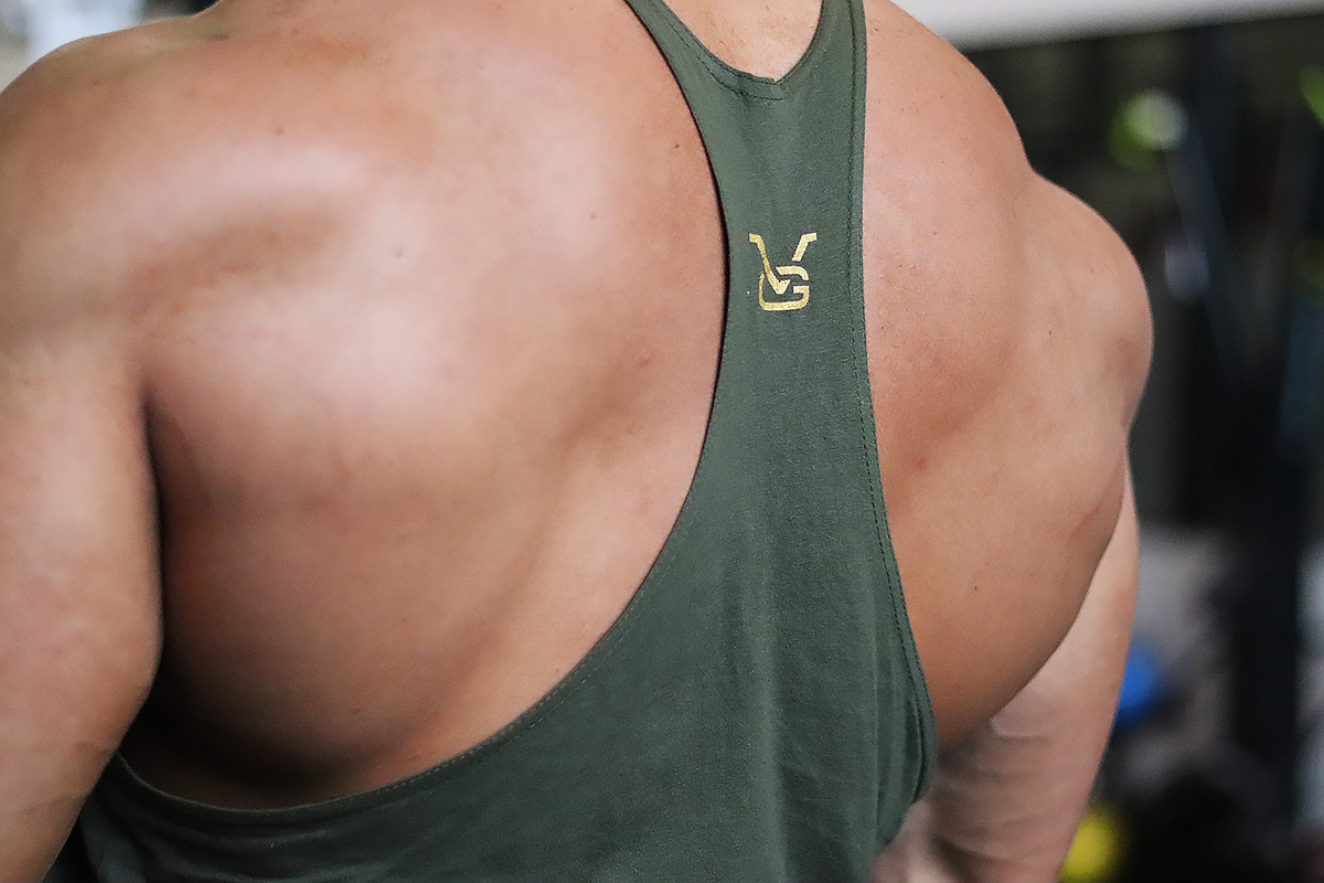 Stay Golden Stringer: Army Green (Gold Logo) - Vintage Genetics