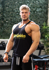 Stay Golden Stringer: Black (Gold Logo) - Vintage Genetics