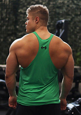 Gym Stringer: Hulk Green (VG Logo) - Vintage Genetics