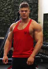 Gym Stringer: Crimson Red (VG Logo) - Vintage Genetics
