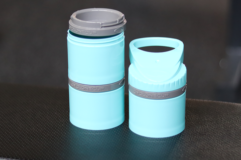 Vintage Genetics Cyclone Storage Compartment: 3x6 oz (Cyan) - Vintage Genetics