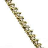 10kt Yellow Gold Diamond Ladies Tennis Bracelet 4.30ct - Richard Miles Jewellers