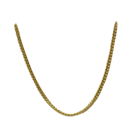 9ct Yellow Gold 375 Stamped Quality Curb Style Fine Chain 16inch 3.7g 1.7mm - Richard Miles Jewellers
