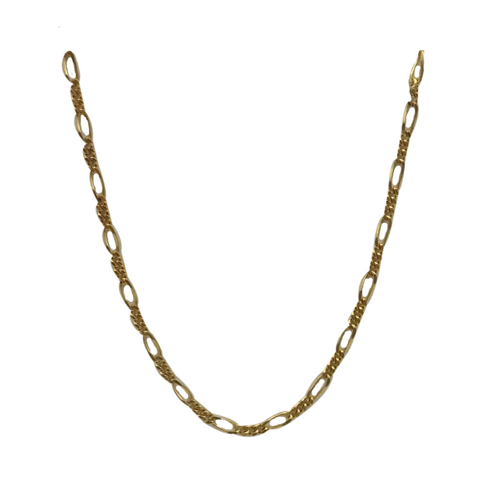 9ct Yellow Gold 375  Medium Figaro Chain 18inch 2.1g 1.5mm - Richard Miles Jewellers