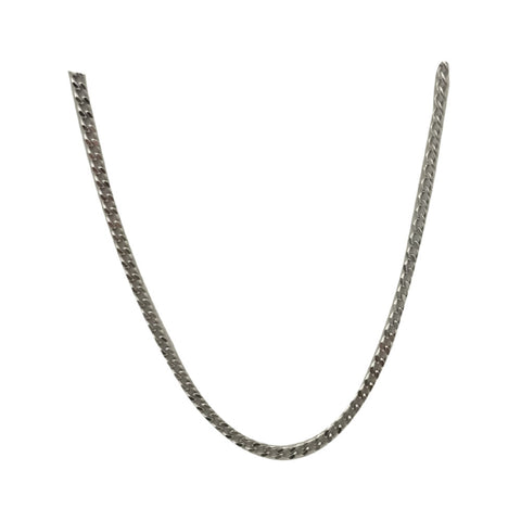 9ct White Gold Quality Curb Style Chain 18inch 3.4g 1.6mm - Richard Miles Jewellers