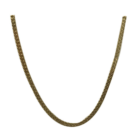 9ct Yellow Gold 375 Hall Marked Fine Curb Chain 16inch 3.5g 1.75mm - Richard Miles Jewellers