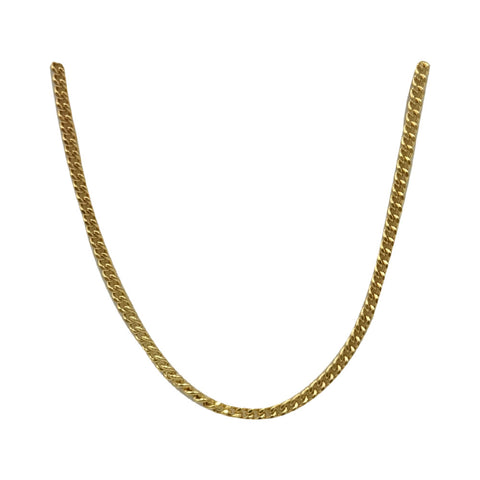 9ct Yellow Gold 375 Stamped Medium Curb Style Chain 16inch 3.4g 1.6mm - Richard Miles Jewellers