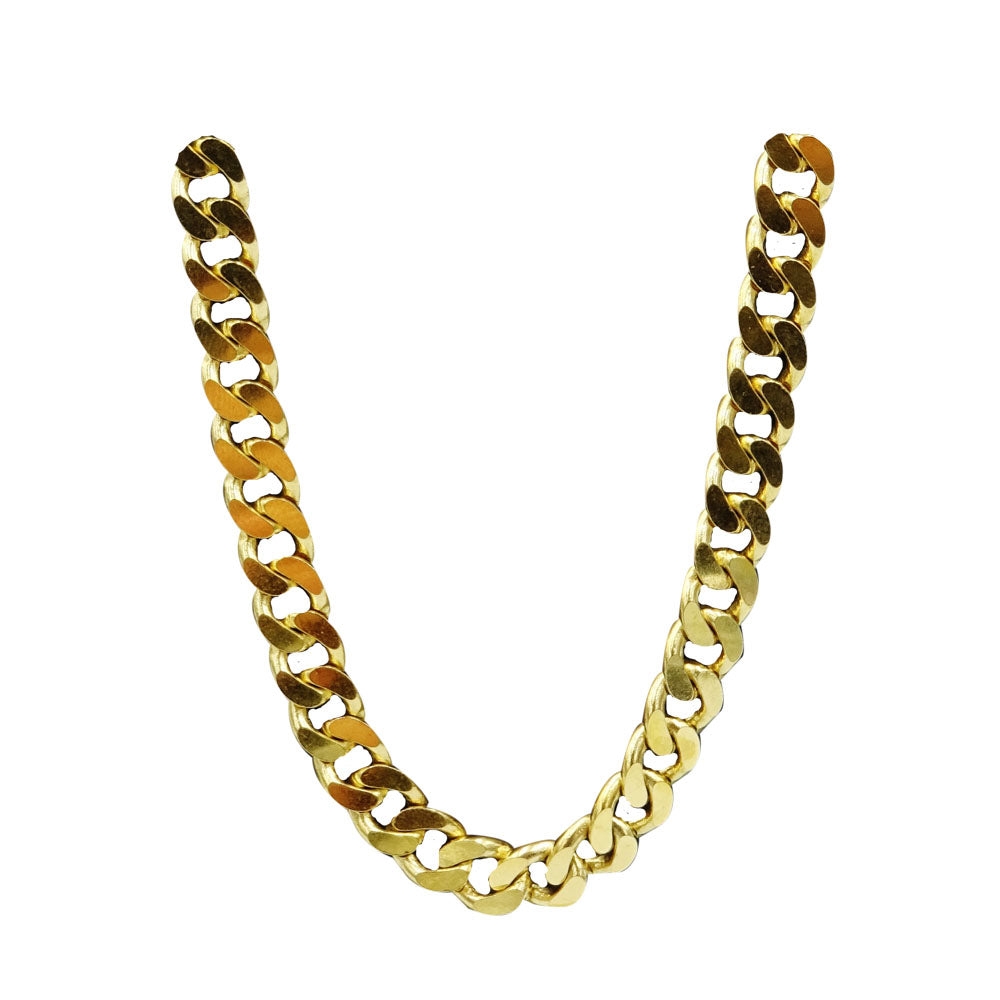 9ct Yellow Gold 375 Hall Mark Premium Heavy Curb Chain 20inch 40g 6mm - Richard Miles Jewellers
