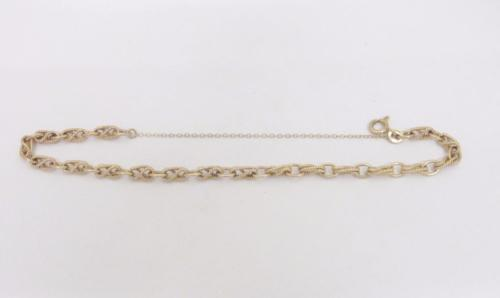 9ct Yellow Gold Fancy Vintage Twist Bracelet 7 inches 6.7 Grams - Richard Miles Jewellers