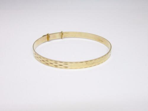 9ct Yellow Gold Large Childs Expandable Bangle 5.02mm 6.8g - Richard Miles Jewellers