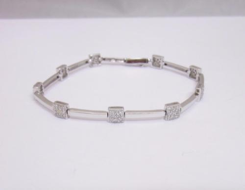 18ct White Gold Pave Set Diamond 0.72ct Ladies Bracelet 7.5 inches RRP £2500 - Richard Miles Jewellers