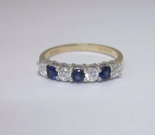 14ct Yellow Gold Stone Set Half Eternity Ring Size Q - Richard Miles Jewellers