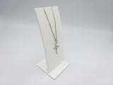 Sterling Silver Diamond Cut Cross Pendant With Fine Curb Chain 20inch 2.1g - Richard Miles Jewellers