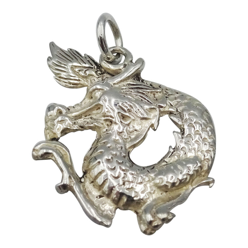 925 Sterling Silver Oriental Dragon Pendant 5.5g - Richard Miles Jewellers