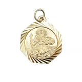 9ct Yellow Gold Small Octagon Shaped St.Christopher - Richard Miles Jewellers