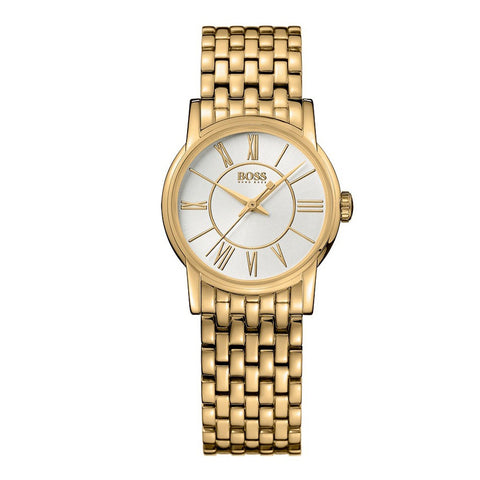 Hugo Boss 1502242 Ladies Gold Tone Smooth Watch 29mm - Richard Miles Jewellers