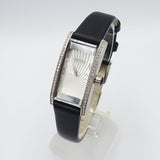 Hugo Boss 1502390 Ladies Crystal Bezel & Black Leather Cocktail Rectangle Watch 26mm - Richard Miles Jewellers